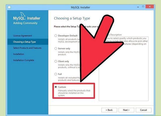 Prent getiteld Installeer die MySQL databasis bediener op u Windows PC Stap 6