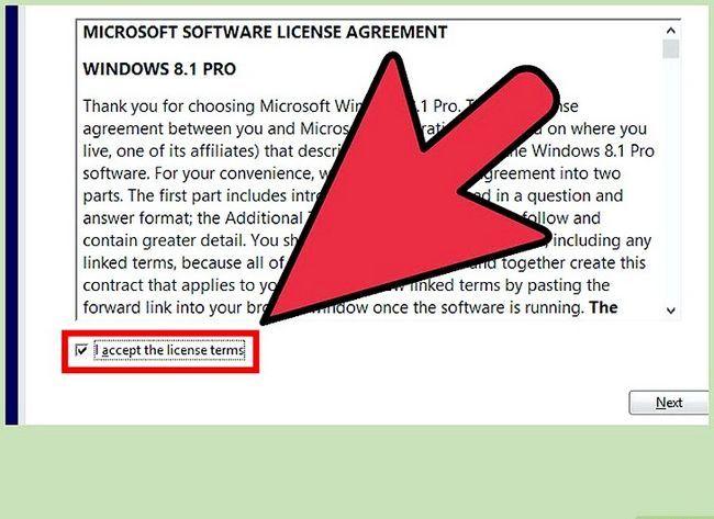 Prent getiteld Installeer Windows 8.1 Stap 5