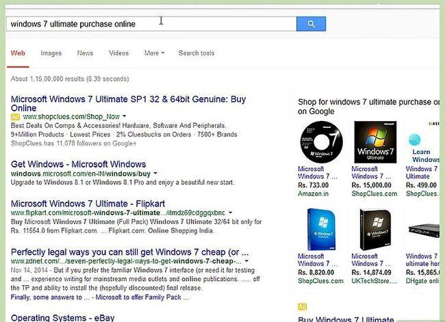 Prent getiteld Installeer Microsoft Windows met behulp van `n USB 2.0 Flash Drive Stap 1
