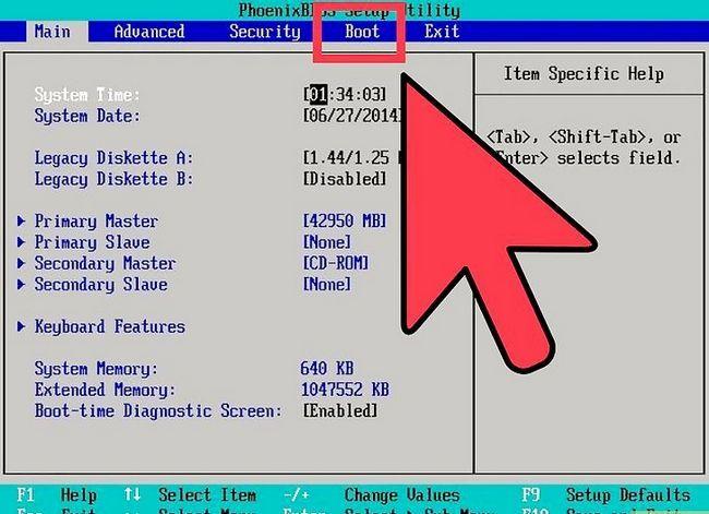 Prent getiteld Installeer Microsoft Windows met behulp van `n USB 2.0 Flash Drive Stap 11