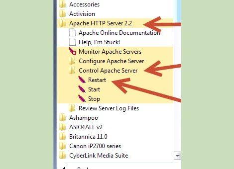 Prent getiteld Php 5.2.5 en Apache 2.2.8 installeer en instel in Windows Vista Stap 6Bullet2