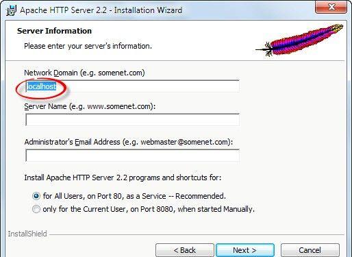 Prent getiteld Php 5.2.5 en Apache 2.2.8 installeer en installeer in Windows Vista Stap 2Bullet4