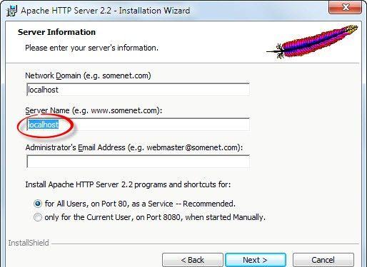 Prent getiteld Php 5.2.5 en Apache 2.2.8 installeer en instel in Windows Vista Stap 2Bullet5