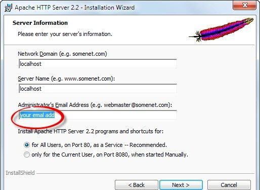 Prent getiteld Php 5.2.5 en Apache 2.2.8 installeer en instel in Windows Vista Stap 2Bullet6