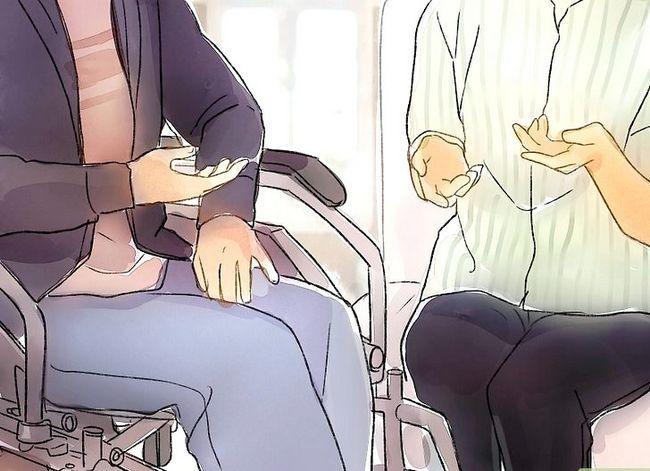 Prent getiteld Interaksie met mense met gestremdhede Stap 6