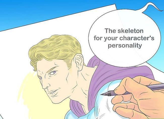 Prent getiteld Skep karakters Stap 4