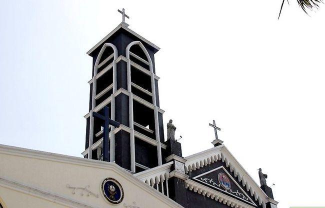 Prent getiteld Gaan na Kerk Stap 1