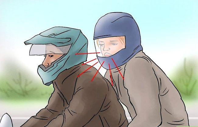 Prent getiteld Ry op die rug van `n motorfiets Stap 18