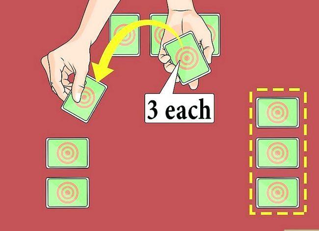 Prent getiteld Speel die Palace Card Game Stap 1