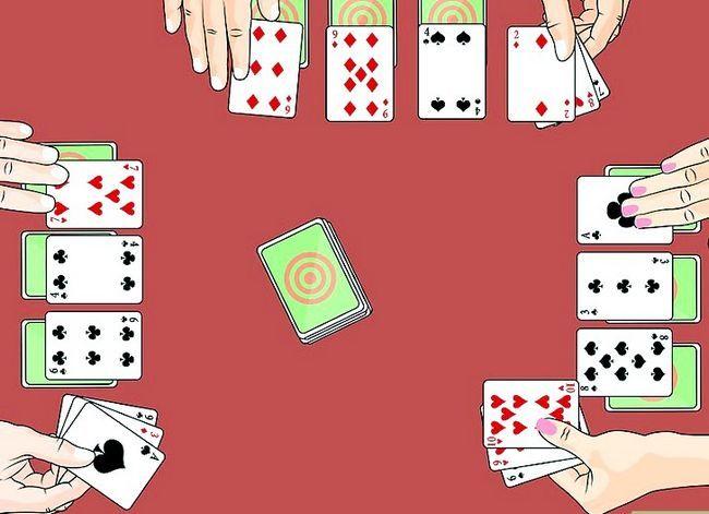 Prent getiteld Speel die Palace Card Game Step 3