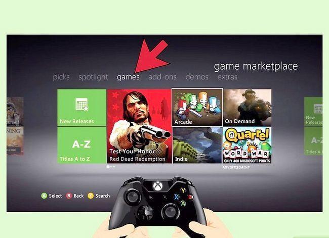 Beeld met die titel Play Games op Xbox 360 sonder `n CD Stap 5