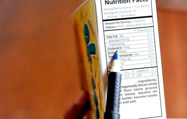 Beeld getiteld Lees Voedings Feite op Voedsel Etikette Stap 5