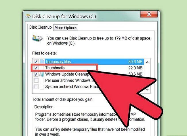 Prent getiteld Free Disk Space (Windows 7) Stap 12