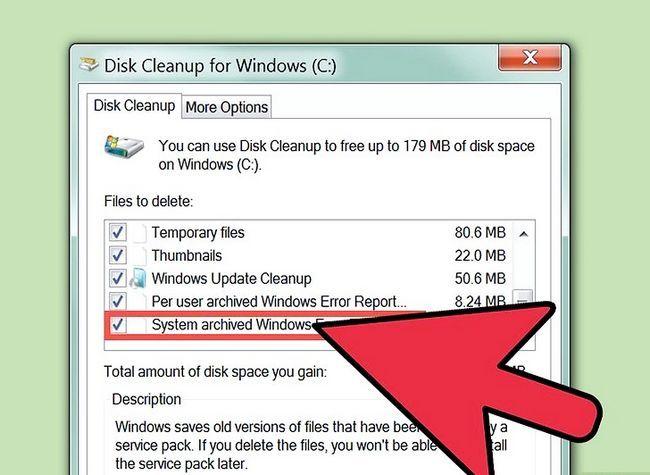 Prent getiteld Free Disk Space (Windows 7) Stap 13