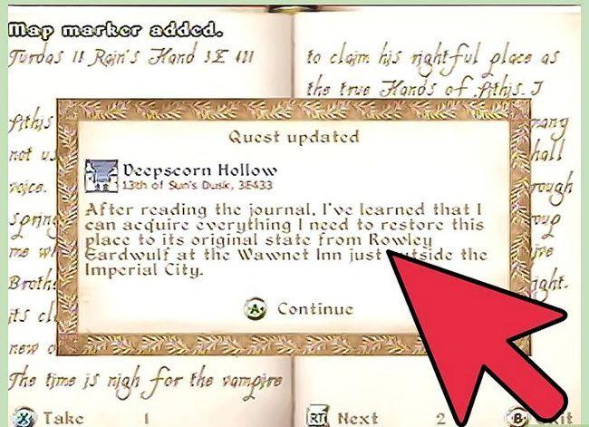 Prent getiteld Hanteer `n Vampier in Oblivion Stap 6