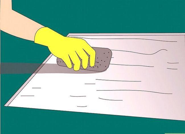 Prent getiteld Verwyder Latex Rubber Tapyt en Tile Plak van `n Sementvloer Stap 10