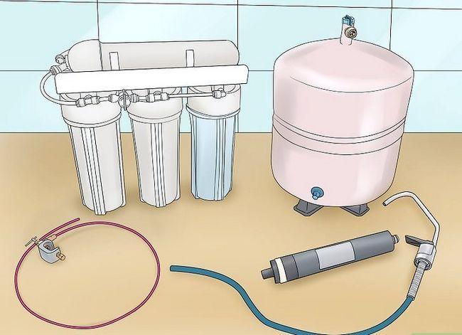 Prent getiteld Clean Tap Water Stap 5