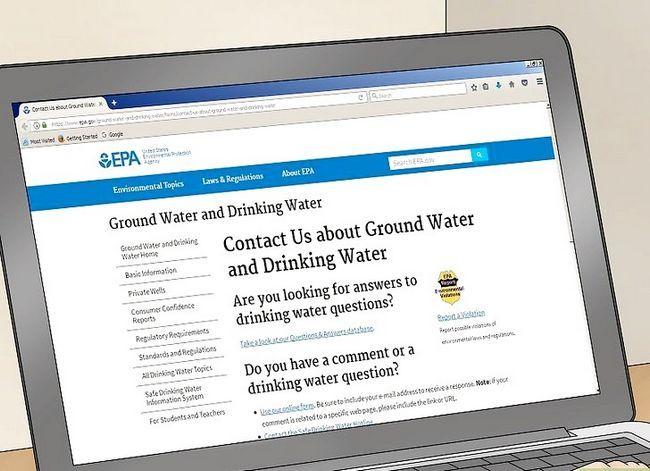 Prent getiteld Clean Tap Water Stap 8
