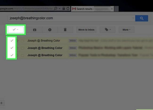 Prent getiteld Maak jou Gmail-posbus skoon. Stap 18