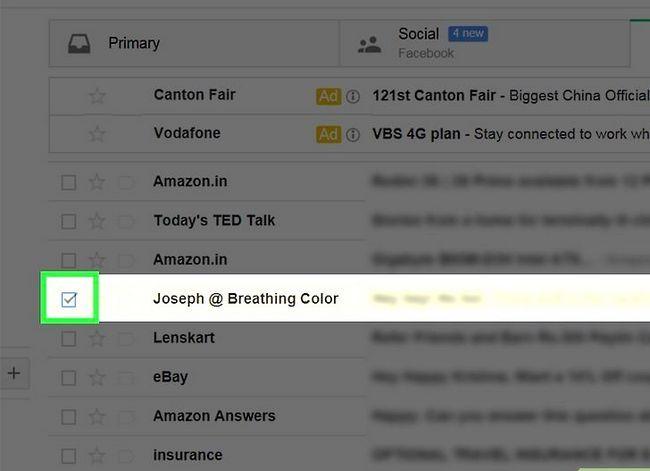 Prent getiteld Maak jou Gmail-posbus skoon. Stap 2
