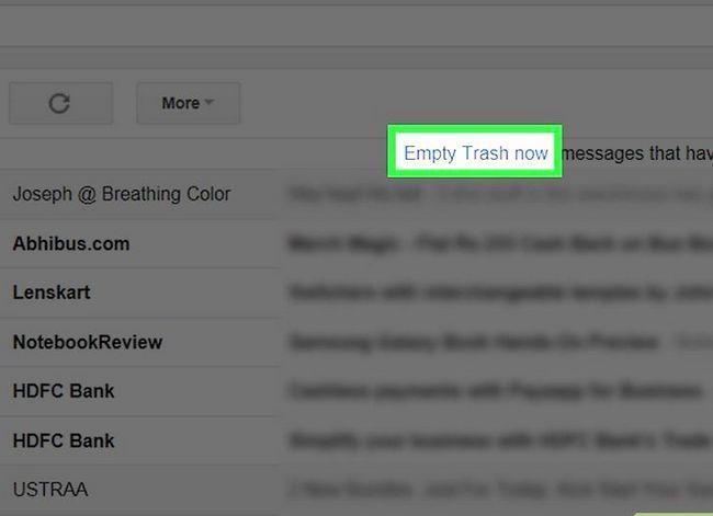 Prent getiteld Maak jou Gmail-posbus skoon. Stap 21