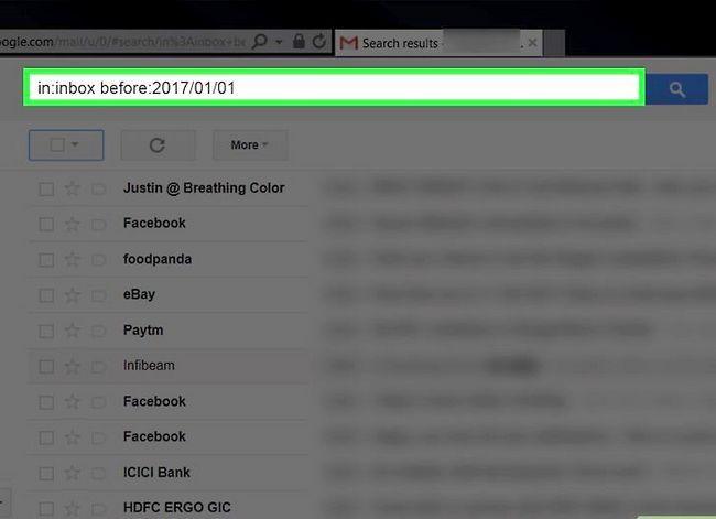 Prent getiteld Maak jou Gmail-posbus skoon. Stap 25