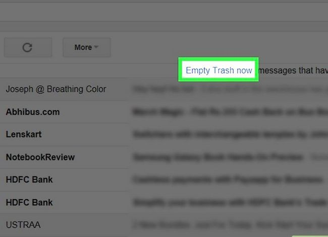 Prent getiteld Maak jou Gmail-posbus skoon. Stap 30