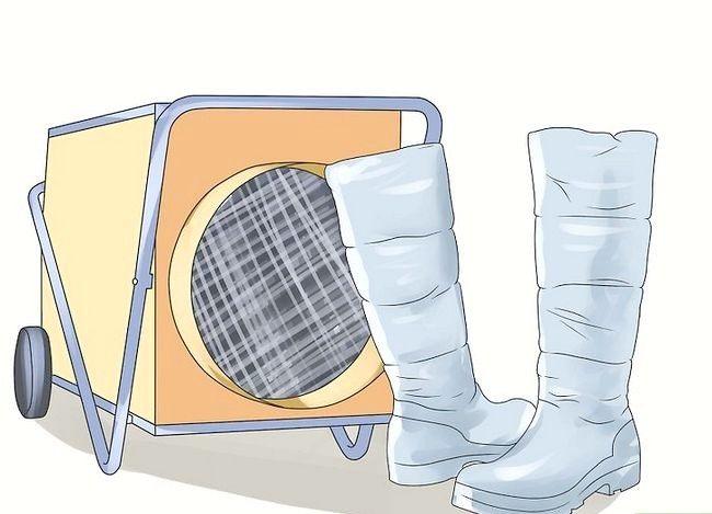 Prent getiteld Clean Stinky Winter Boots Stap 6