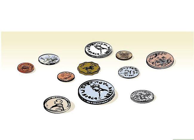 Prent getiteld Clean Old Coins Stap 01