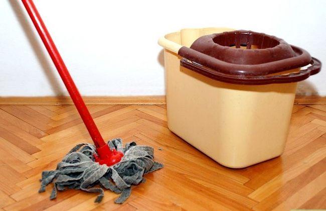 Prent getiteld Maak die vloer skoon met `n klam dop Stap 3