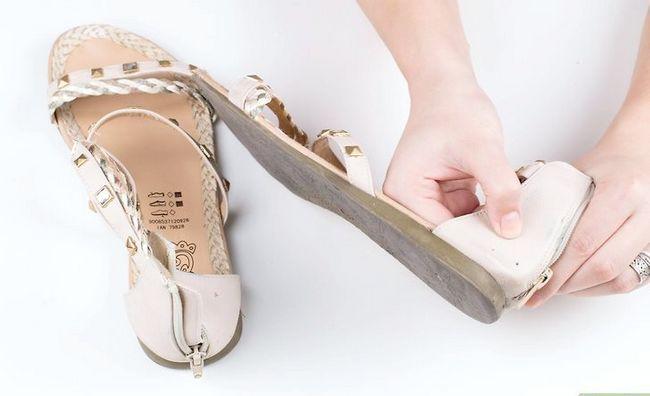 Prent getiteld Skone Leer Sandale Stap 1