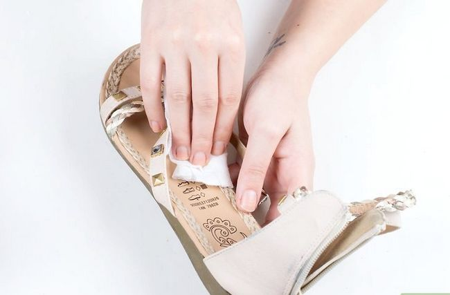 Prent getiteld Skone Leer Sandale Stap 4