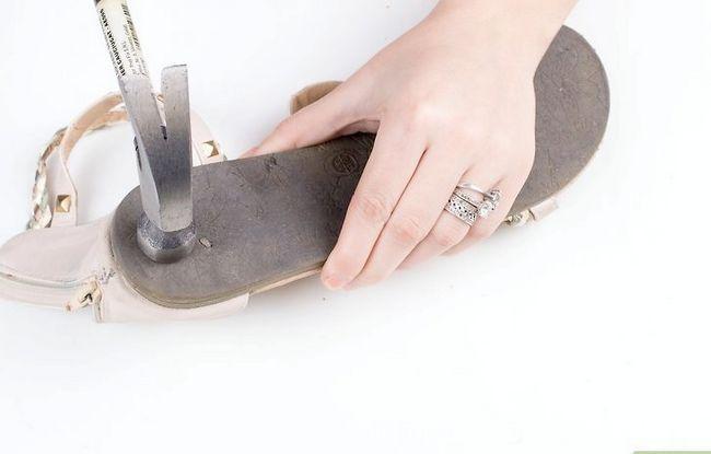 Prent getiteld Skone Leer Sandale Stap 8