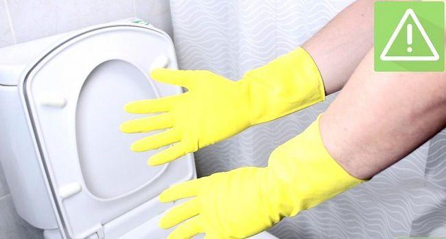 Prent getiteld Skoon `n toilet Stap 1