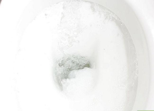 Prent getiteld Skoon `n toilet of bidet Gebruik bleikmiddel Stap 6