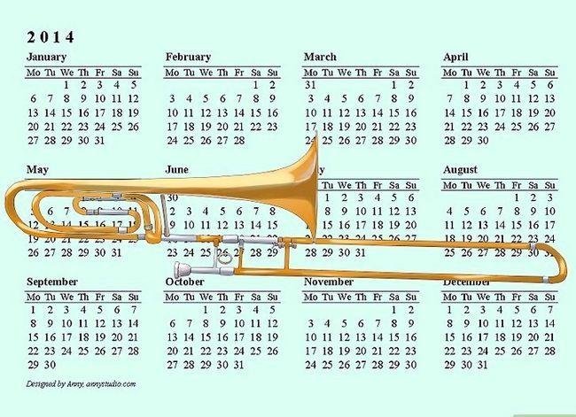 Prent getiteld Maak `n Trombone Stap 1 skoon