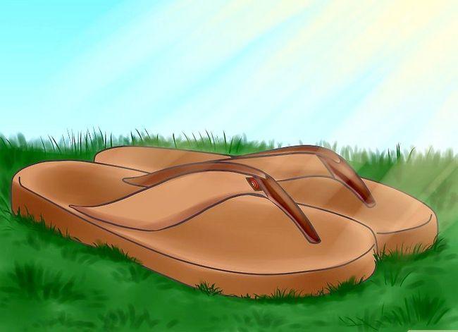 Prent getiteld Clean Rainbow Sandals Stap 4