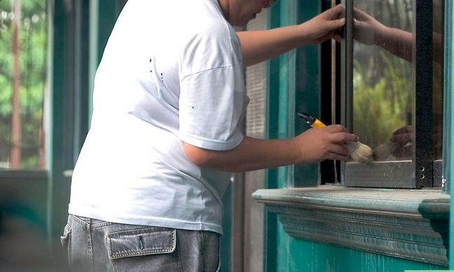 Prent getiteld Clean Windows Without Chemicals Stap 5