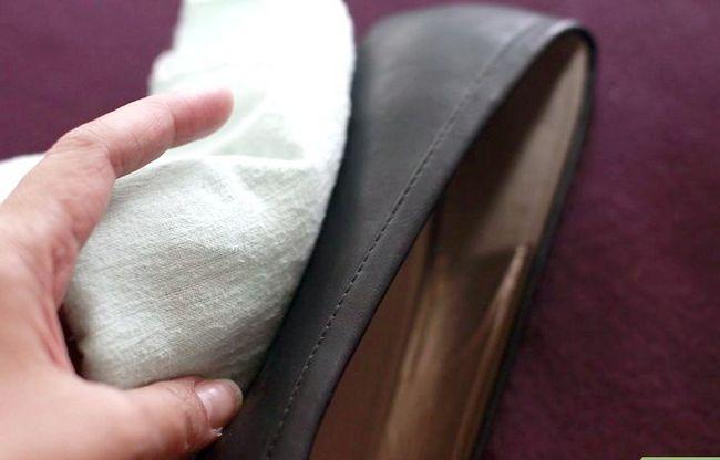 Prent getiteld skoon leer skoene met Windex Stap 5