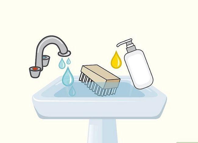 Prent getiteld Clean Sperrys Stap 2