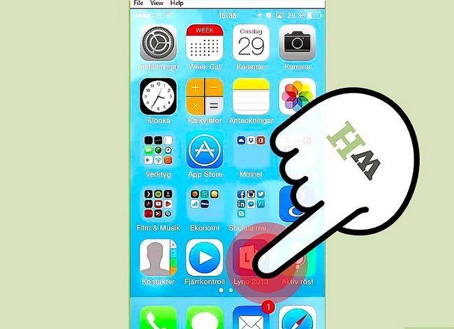 Prent getiteld Bel van Lync op iOS Stap 1