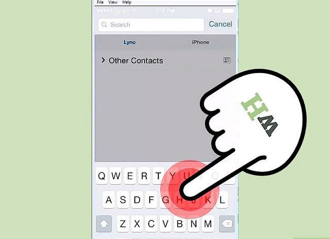Prent getiteld Bel van Lync op iOS Stap 4