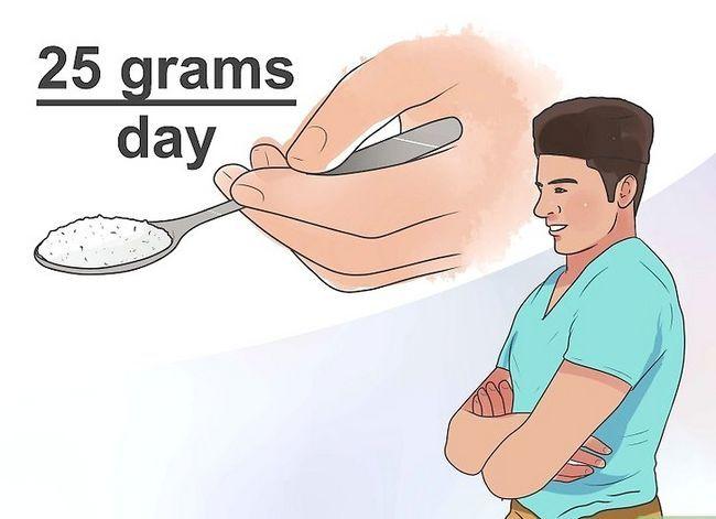Prent getiteld Eat Less Sugar Step 1