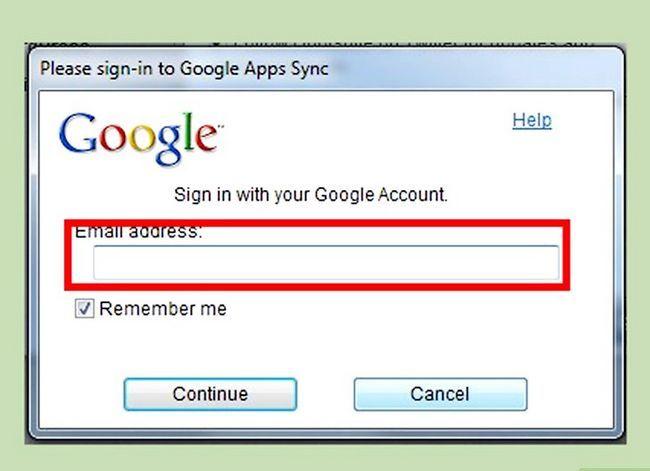 Prent getiteld Kry Google Outlook Sync om te werk met Outlook 2013 Stap 3
