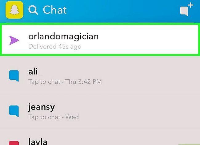Prent getiteld View Sent Snapchats Stap 12