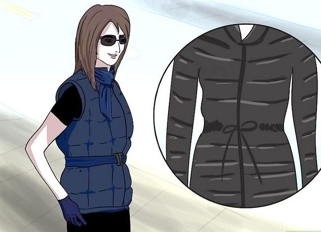 Prent getiteld Dra `n Puffer Jacket Stap 10