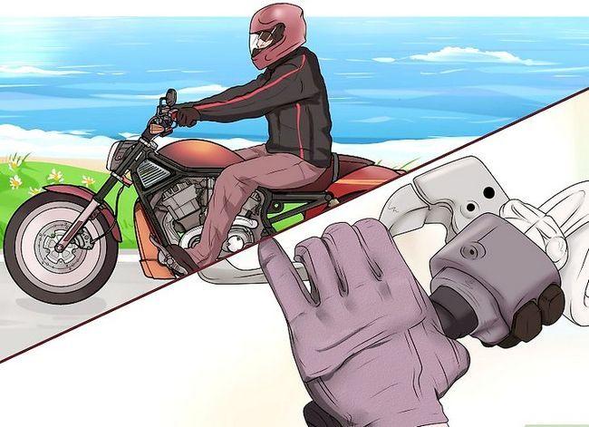 Prent getiteld `n motorfiets ry (beginners) Stap 5