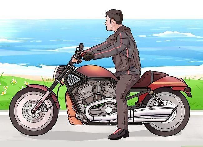 Prent getiteld Ry `n motorfiets (Beginners) Stap 6