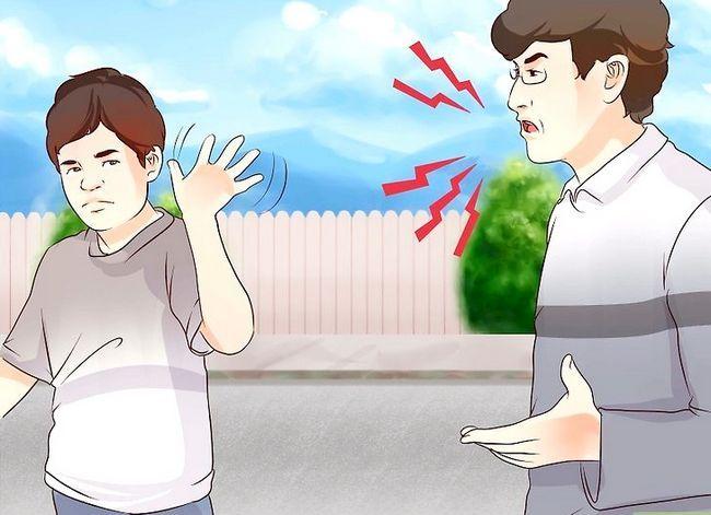 Prent getiteld Bly kalm wanneer jou ouers op jou Stap 8 skree