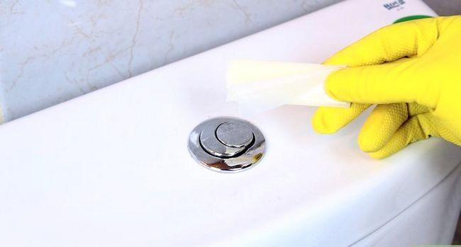 Prent getiteld Handhaaf `n skoon toilet Stap 9